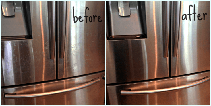 DIY: Homemade Stainless Steel Cleaner. The BEST way to get rid of fingerprints on your stainless steel appliances - using non-toxic items you likely already have in your home.