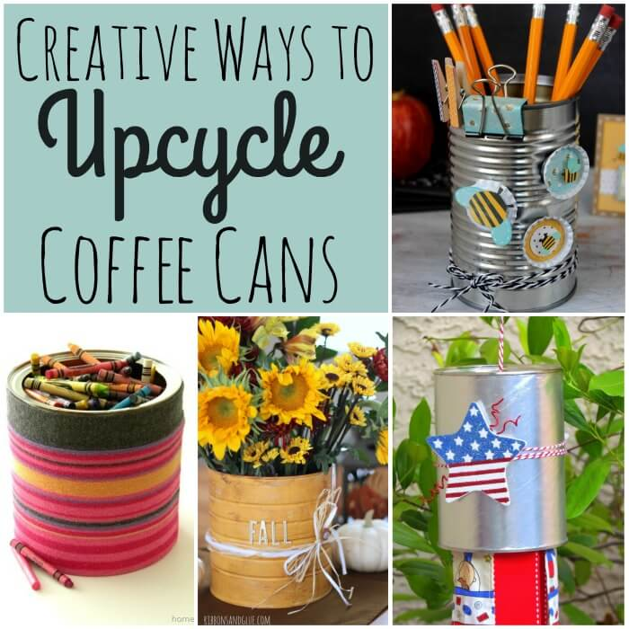 Crafty ways to upcycle coffee cans - What are coffee cans made of ...