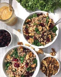 Cranberry Quinoa Salad with Kale & Walnuts