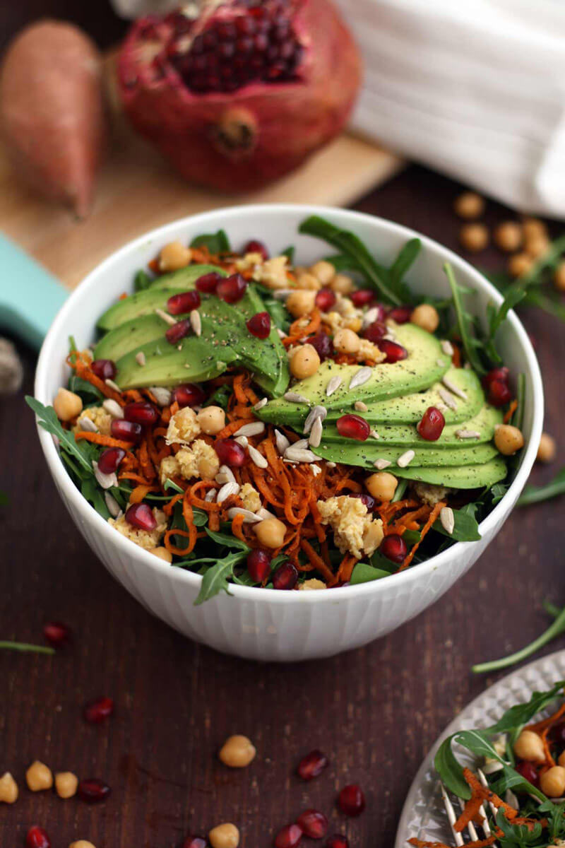 Sweet Potato Noodle Salad - Hearty Vegan Salad Recipes