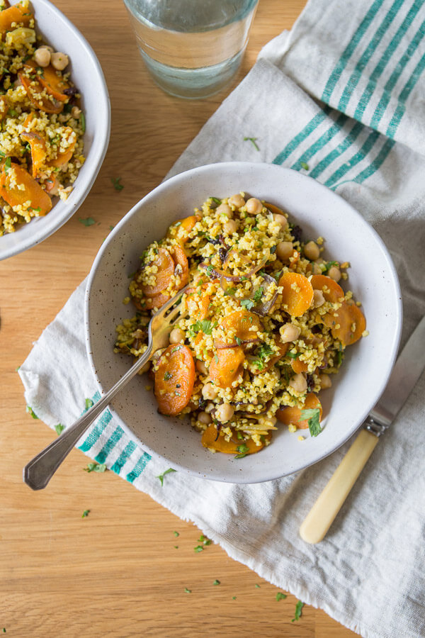 Spiced Carrot and Millet Salad - Hearty Vegan Salad Recipes