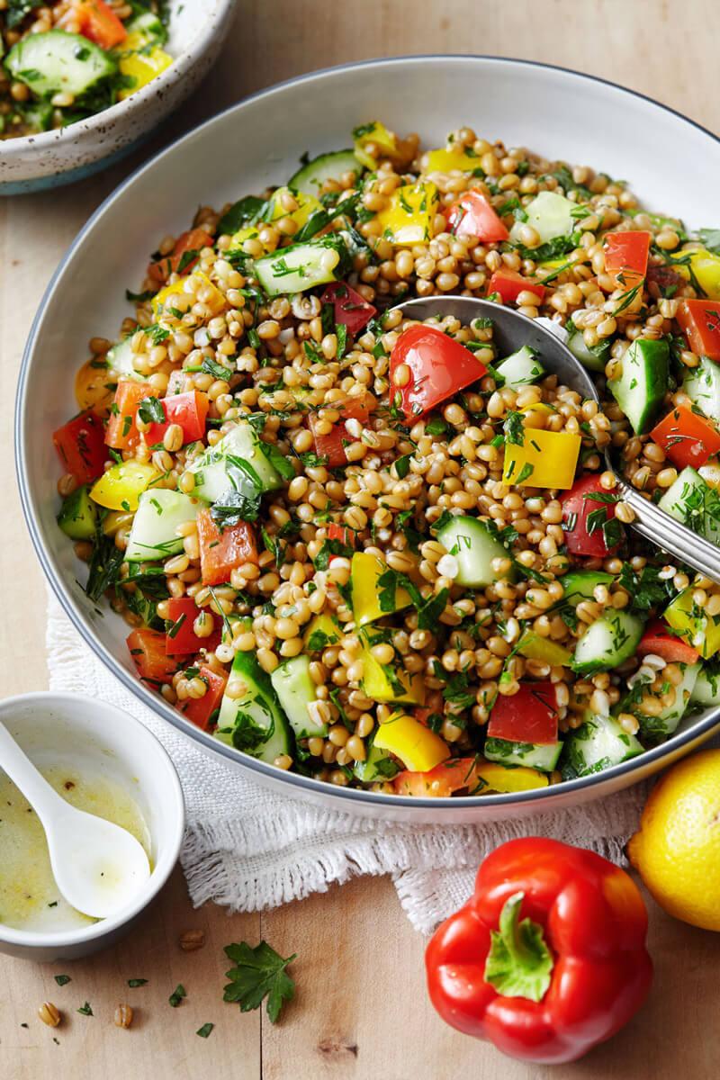 Grain Salad - Hearty Vegan Salad Recipes